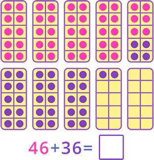 Adding 2 digit numbers using 10 Frames
