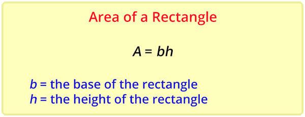 Area of Rectangle formula