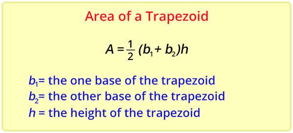 formula of area of trapezoid