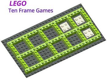 LEGO Ten Frame Games