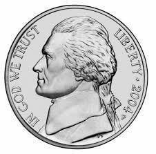 Head of 1 Nickel coin