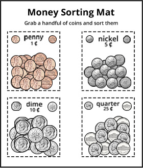 Manipulatives to teach counting money