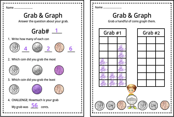 Sorting coins by type and color