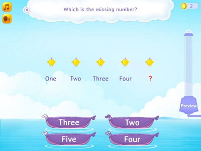 Numeral Identification and counting sequence