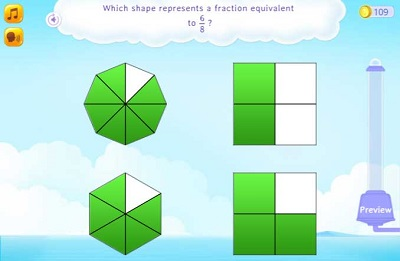 Simplify fractions to understand equivalence fraction