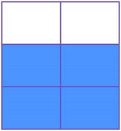 four sixths fraction on area model