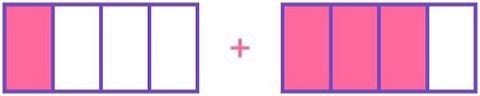 add 1434 on fraction strip