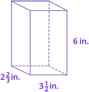 Volume of figures with fractional side lengths