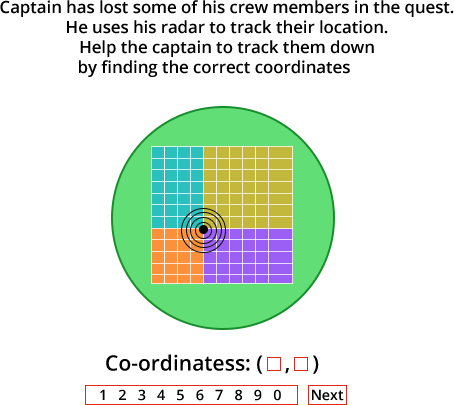 Find location coordinates on radar