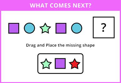 Identify missing shape in the pattern