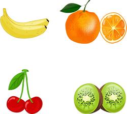 Banana cherry orange kiwi