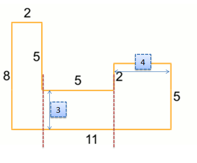 Area and Perimeter of complex figure
