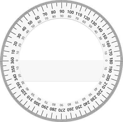 360 degree protractors