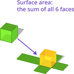Surface area using net