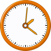 Analog clock with hands