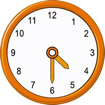 half past 4 on analog clock