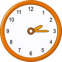 quarter past 2 on analog clock