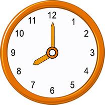 8 oclock on analog clock
