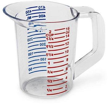 Measuring liquids using cup