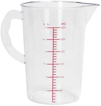 Measuring liquids using pitcher