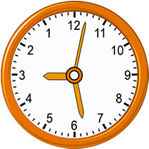 analog clock with hour minute and second hand