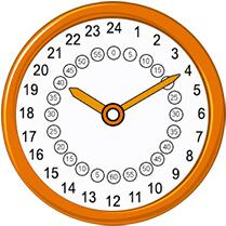 24-hour analog clock