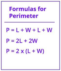 Formula of Perimeter