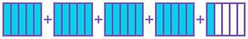 Adding 4  15 fraction using fraction strips