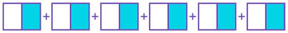 Identify the multiplication represented by the fraction strip