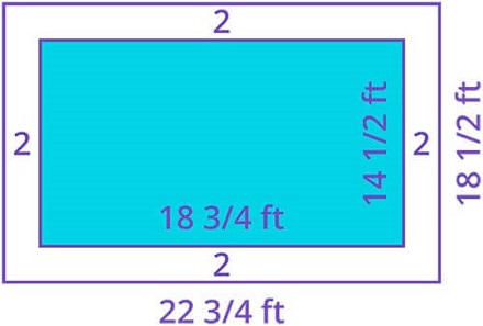 Calculate Area of swimming pool path way