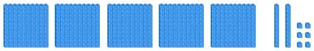 Represent 526 using base 10 blocks