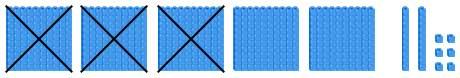 Represent 526-300 using base 10 blocks