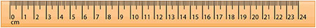 Centimeter ruler up to 20 cm