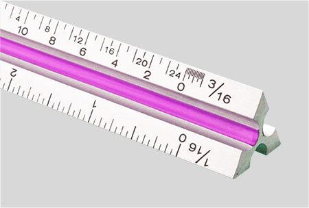 Triangular scale rulers