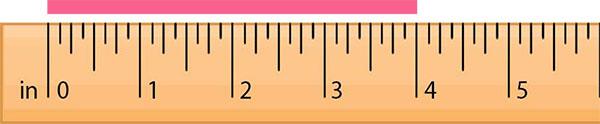 Measuring a line segment using ruler
