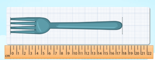 Measure lengths of a given object on ruler