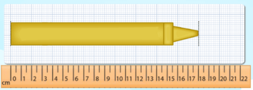 Objects along with a digital ruler