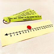 subtraction activity using number line