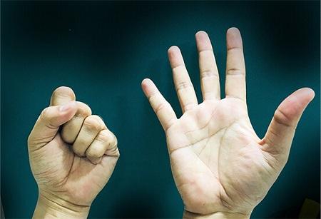 Subtraction using hands