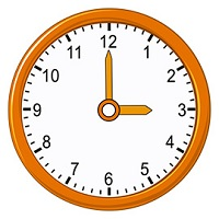Read time shown in clock