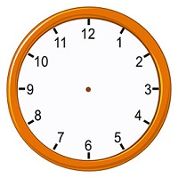 Analog clock without hand