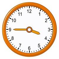 Quarter to 4 on analog clock