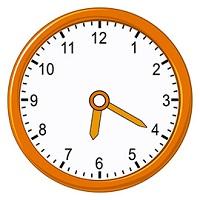 Represent 620 on analog clock