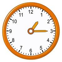 Quarter past 1 on analog clock