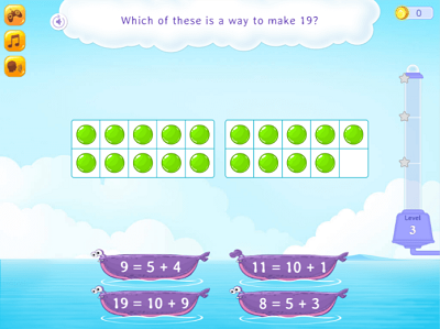 Which of these is a way to make 19